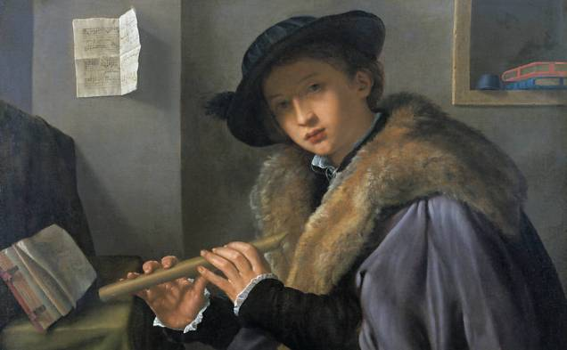 Não atinei de tirar foto dos músicos, mas um dos quadros expostos serve de ilustração.