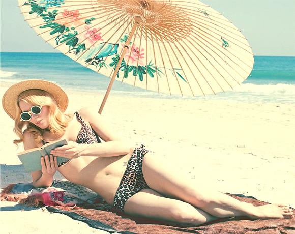 lendo no calor