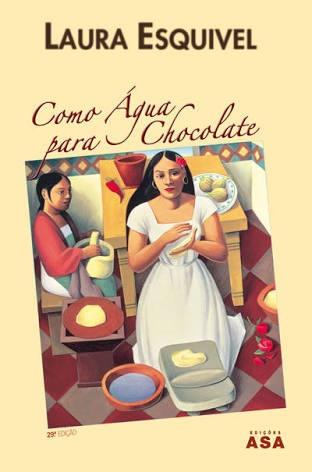 capa do livro como agua para chocolate da laura esquivel